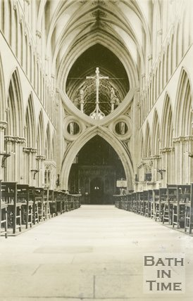 Wells Cathedral Nave, 1945