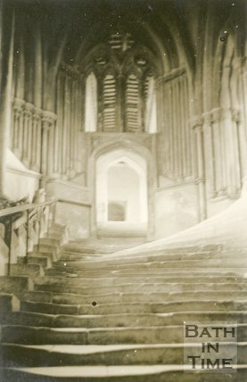 Wells Cathedral Steps, 1945