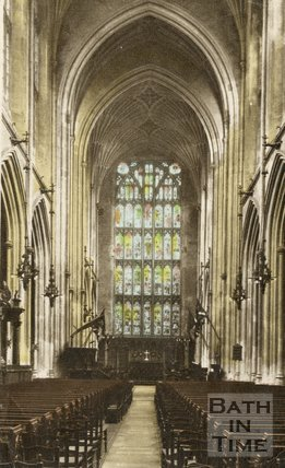 The nave, Bath Abbey, c.1940s