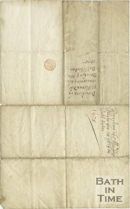 Directions concerning the drinking of Bath Waters by Sir Alexander Fraser, 1675 - reverse