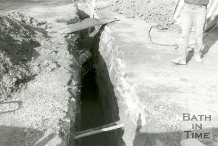 Trench in Queen's Parade, Bath, 1989