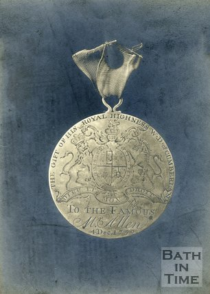Medal presented to Ralph Allen by the Duke of Cumberland, Presented 4th December 1752
