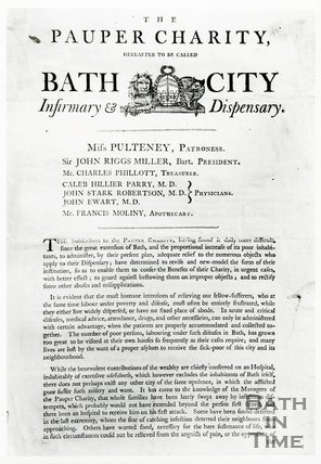 Bath City Infirmary, page 1 April 1792