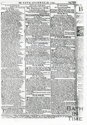 Bath Journal, Monday March 25th, 1745, page 4