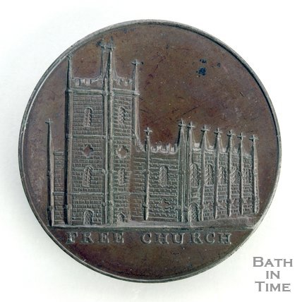 Bath token of the Free Church - Christ Church, Julian Road, 1797/8