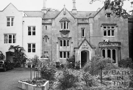 The front of the Priory, Weston Lane, Bath, c.1990