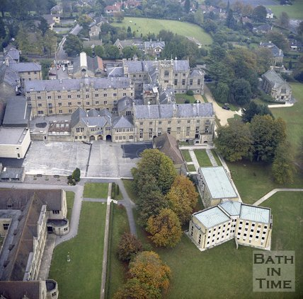 Aerial View of Kingswood School, Lansdown, Bath, c.1980?