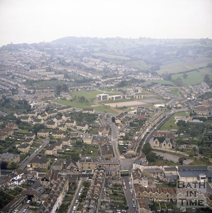 Aerial View of Larkhall and Fairfield Park, c.1980