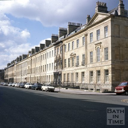 A recently cleaned Great Pulteney Street, Bath, c.1975