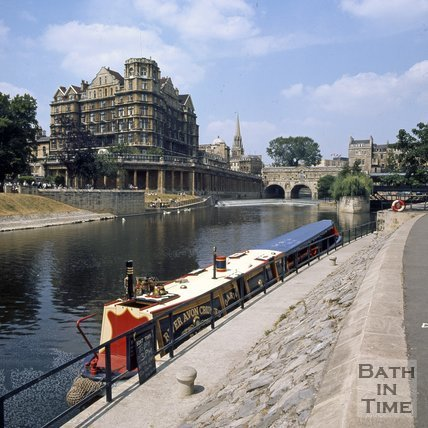 A Narrowboat on the River Avon, Bath, c.1975