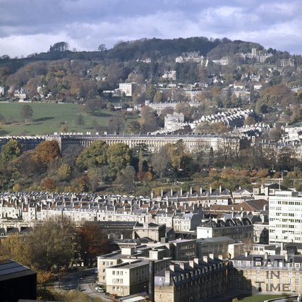View of The Royal Crescent from Beechen Cliff, Bath, c.1975