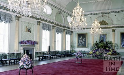 A Floral Display in the Guildhall Ballroom, Bath, c.1980