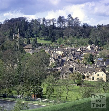 General view of Castle Combe, near Bath, c.1990