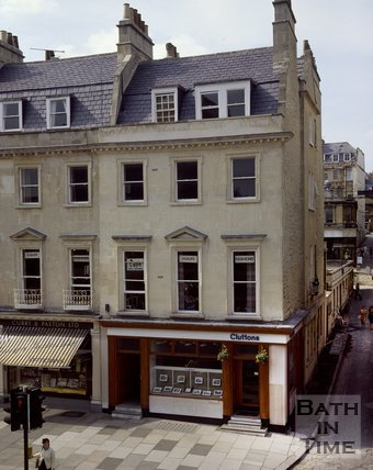 The offices of Cluttons estate agents, George Street, Bath, c.1980s