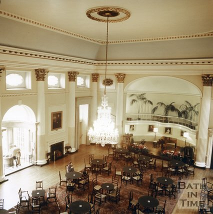The inside of the Pump Room, Bath, c.1980