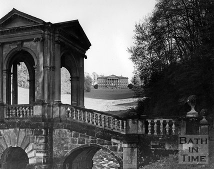 The Palladian Bridge and Prior Park, Bath, c.1973