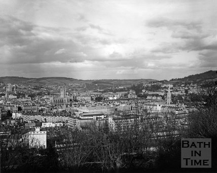 View of Bath from Beechen Cliff, c.1973