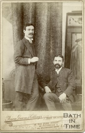Portrait of William Friese Greene (standing ) and Mr. F.W Dingle, c.1883