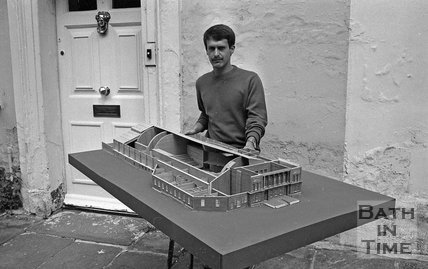 A model of Green Park station, 11 August 1973