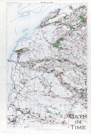 Ordinance survey map of  Weston-Super-Mare and surrounding area, 1911
