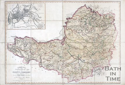 A topographical map of the county of Somerset by W Day and T Masters, 1803