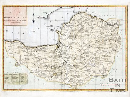 A map of Somersetshire, engraved from a actual map with improvements, 1790
