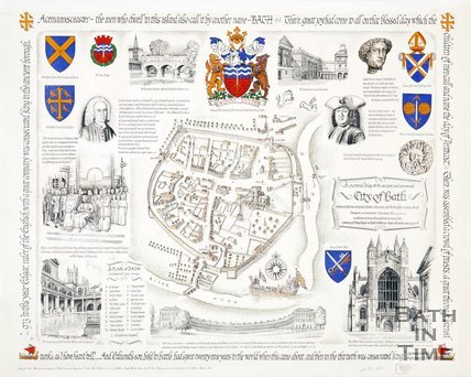 A Pictoral Map of the Ancient and renowned City of Bath, 1973