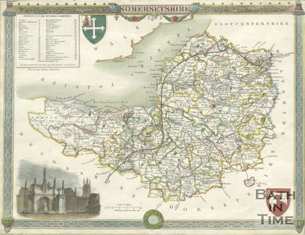 Map of Somersetshire, 1844 - 1846