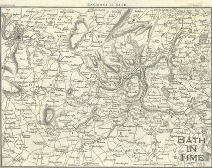 Map of the Environs of Bath, post 1815