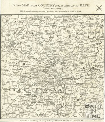 A new map of the Country Twelve miles round Bath, 1812
