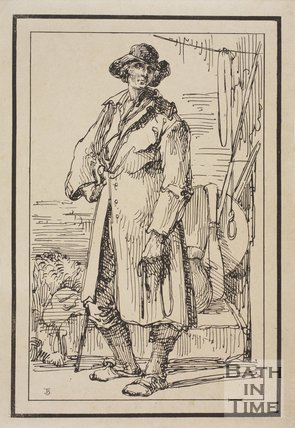 Rustic figure sketched from life by Thomas Barker, c.1800