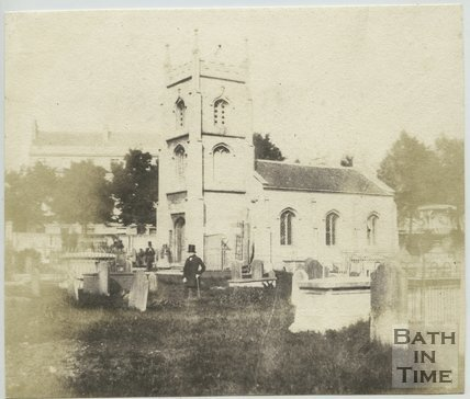 The Burial Ground and chapel of Bathwick Church, Bath, 1849