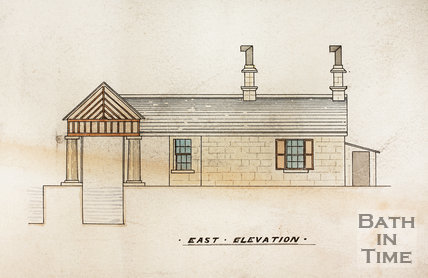 Somersetshire Coal Canal. Plan of offices and Weighing Engine, Midford - detail