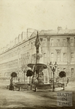 A design for the fountain at Laura Place, Bath