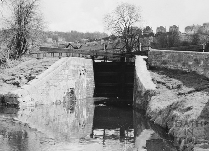 Tail of Chapel Lock, Widcombe, Bath 1956