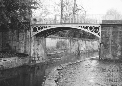 Bridge over canal, Sydney Gardens, Bathwick, Bath 1956