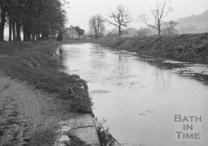 Looking upstream from Bathampton Bridge 1956