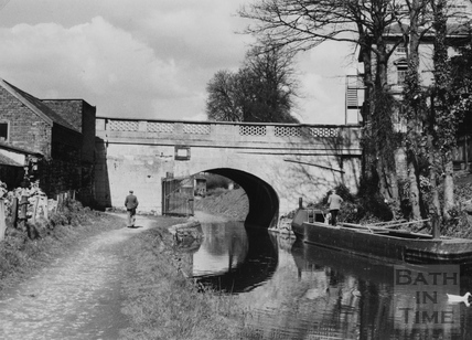 Bathwick Hill road bridge, Bathwick, Bath 1956