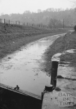Looking south from Limpley Stoke Bridge 1956