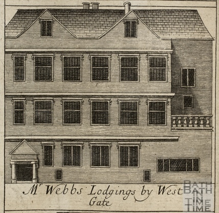 Mr. Webb's Lodgings by West Gate, Bath. Gilmore 1694-1717 - detail