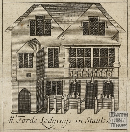 Mr. Ford's Lodgings in Stall Street, Bath. Gilmore 1694-1717 - detail