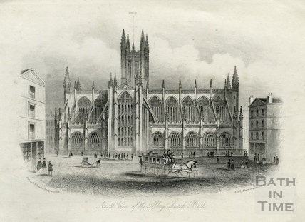 North View of The Abbey Church, Bath c.1886