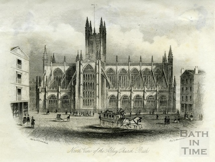North View of the Abbey Church, Bath c.1855