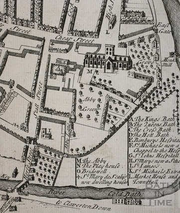 Extract from Stukeley's Map of Somersetshire 1732-1736 - detail
