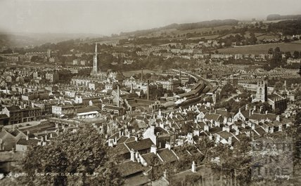 View from Beechen Cliff, Bath c.1930