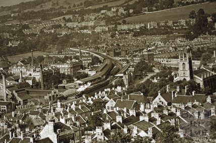 View from Beechen Cliff, Bath c.1930 - detail