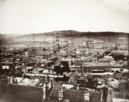 View of Bath from Beechen Cliff c.1874-9