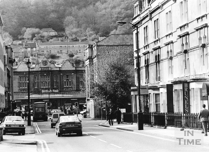 Bath Spa station from Manvers Street, Bath 1991