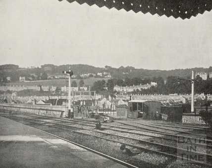 View from Great Western Railway passenger platform, Bath c.1890