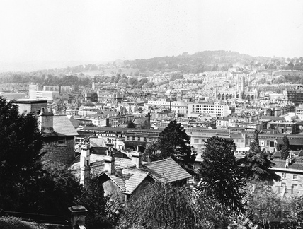 View of Bath from Lyncombe Hill 1971